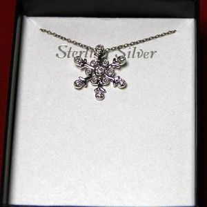 Sterling Silver Snowflake Pendant …